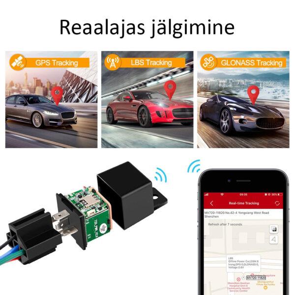 Reaalajas jälgimine - Mini GPS jälgija