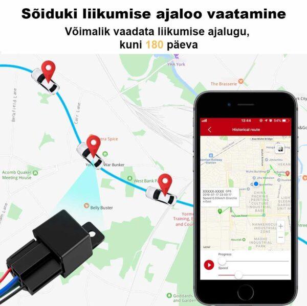 Sõiduki liikumise ajaloo vaatamine - Mini GPS jälgija